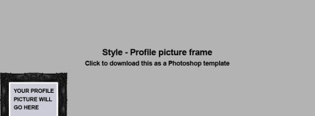 Facebook new Cover photo image template for Timeline Profile Page photo frame style
