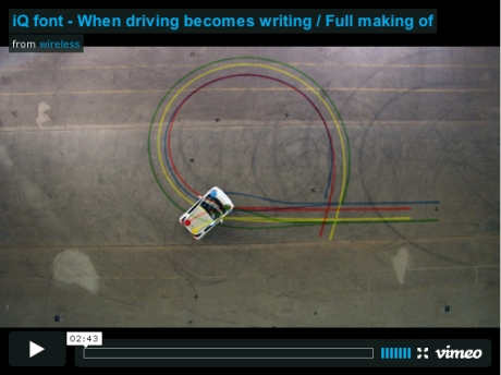 Making of the Toyota iQ font on vimeo