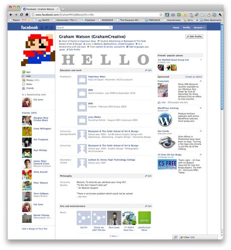 New design for Facebook profiles launched in December