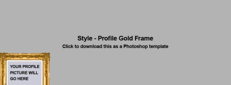 Facebook new Cover photo image template for Timeline Profile Page gold photo frame style