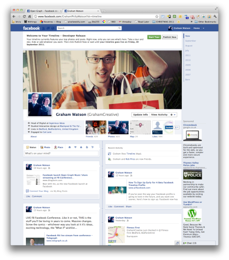 Facebook F8 Open Graph Timeline preview for developers